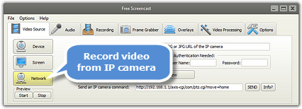 Record Video from IP Camera